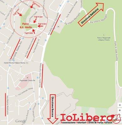 Mappa Parco Beata Elena Aiello