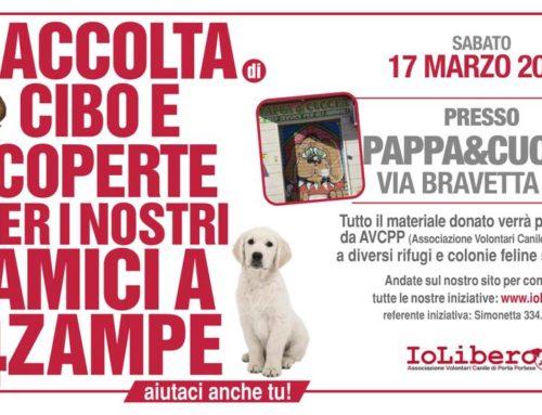 CONSEGNA CIBO TERMINATA! GRAZIE!!!SABATO 17 MARZO 2018 RACCOLTA CIBO DA PAPPA&CUCCIA VIA DI BRAVETTA 204( BUON PASTORE)