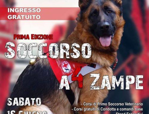 SAVE THE DATE SABATO 16 GIUGNO 2018 Prima edizione di SOCCORSO A 4 ZAMPE