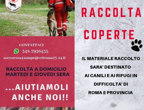 GENNAIO 2019 PROSEGUE LA CONSEGNA DELLE COPERTE CHE CROCE ROSSA ITALIANA STA RACCOGLIENDO A DOMICILIO