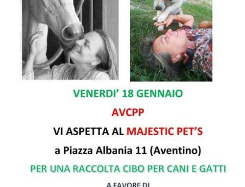 RACCOLTA CIBO AL MAJESTIC PET'S  VENERDI 18 GENNAIO 2019