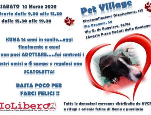 RIMANDATO PER EMERGENZA COVID -19 SABATO 14 MARZO 2020 RACCOLTA CIBO PRESSO PET VILLAGE