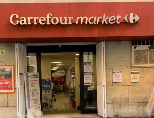 CONSEGNA DELLA BEFANA!CARREFOUR MARKET RACCOLTA PERMANENTE DI CIBO